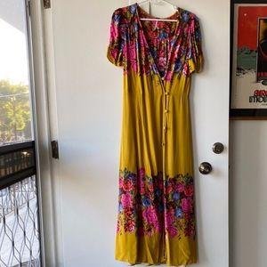 Free People Midi Dress - Floral - Fall